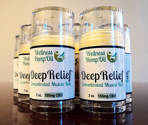 Wellness Hemp Oil 150mg Cannabidiol DeepRelief Muscle Rub